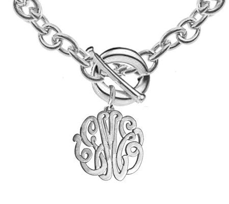 Keti Sorely Designs Sterling Silver Monogram Necklace on Toggle Chain Apparel & Accessories > Jewelry > Necklaces - 1