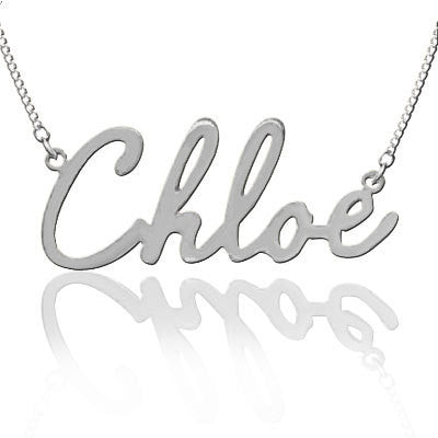Keti Sorely Designs Sterling Silver Name Plate Necklace Apparel & Accessories > Jewelry > Necklaces