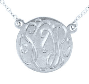 Keti Sorely Designs Sterling Silver Engraved Disc Necklace Apparel & Accessories > Jewelry > Necklaces - 1
