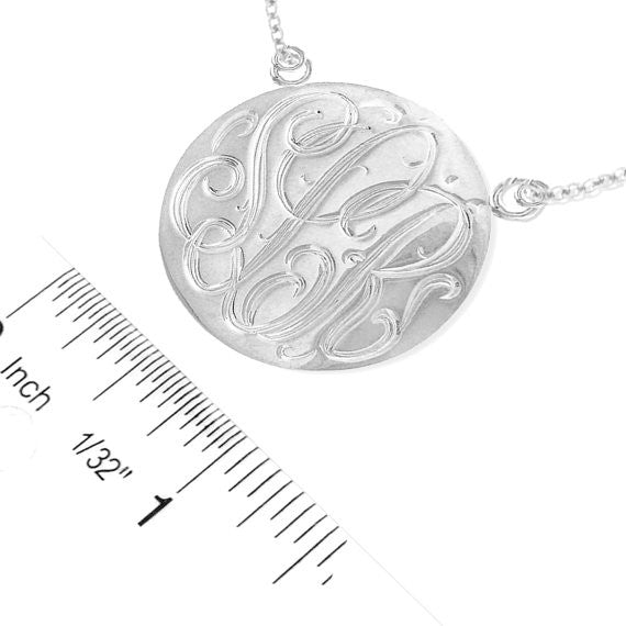 Keti Sorely Designs Sterling Silver Engraved Disc Necklace Apparel & Accessories > Jewelry > Necklaces - 2