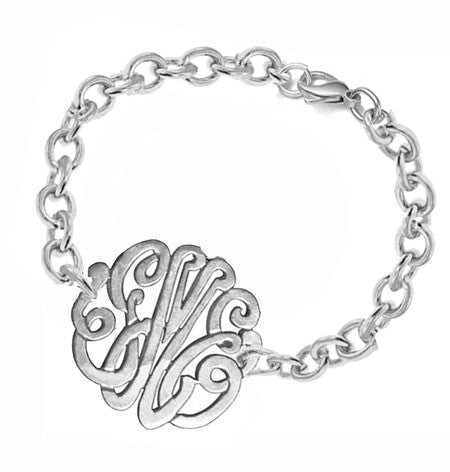 Keti Sorely Designs Sterling SIlver Monogram Bracelet Apparel & Accessories > Jewelry > Bracelets