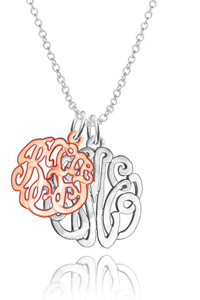 Keti Sorely Designs Mixed Metal Double Monogram Necklace Apparel & Accessories > Jewelry > Necklaces - 2