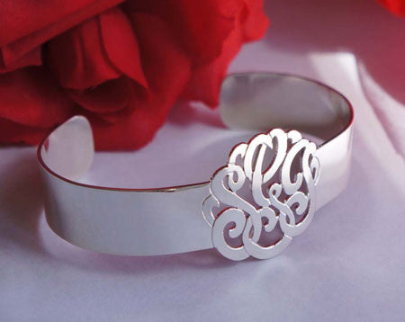 Keti Sorely Designs Sterling Silver Monogram Cuff Bracelet Apparel & Accessories > Jewelry > Bracelets - 1