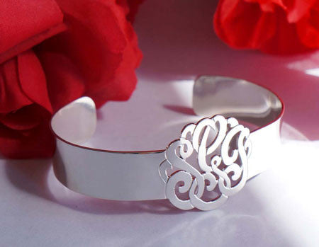 Keti Sorely Designs Sterling Silver Monogram Cuff Bracelet Apparel & Accessories > Jewelry > Bracelets - 2