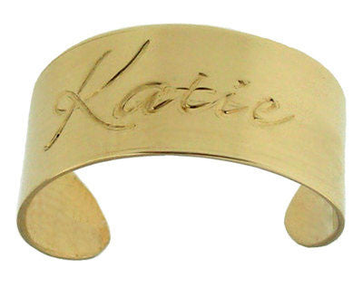 Keti Sorely Designs 24K Gold Plated Engraved Cuff Bracelet Apparel & Accessories > Jewelry > Bracelets