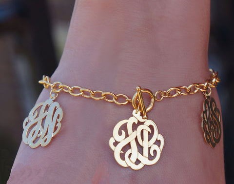 Keti Sorely Designs Family Monogram Bracelet Apparel & Accessories > Jewelry > Bracelets - 1