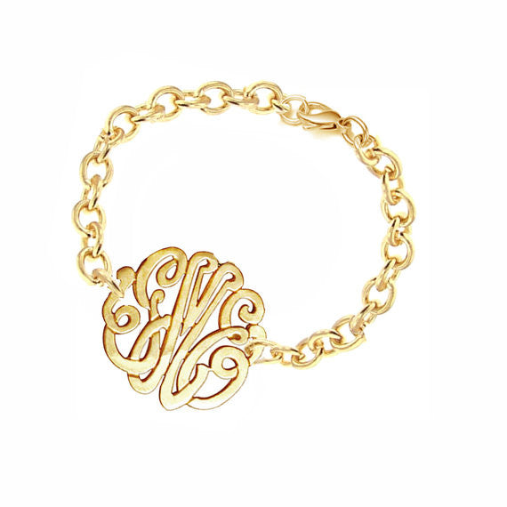 Keti Sorely Designs Gold Monogram Bracelet Apparel & Accessories > Jewelry > Bracelets