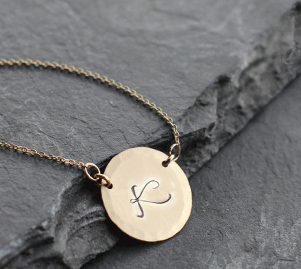 Large Hand Stamped Coin Necklace 2