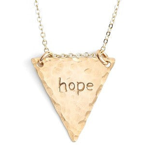 Personalized Hand Stamped Triangle Necklace - Nashelle Apparel & Accessories > Jewelry > Necklaces - 1
