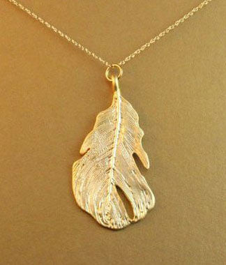 14K Gold Filled Favorite Leaf Necklace Apparel & Accessories > Jewelry > Necklaces - 2