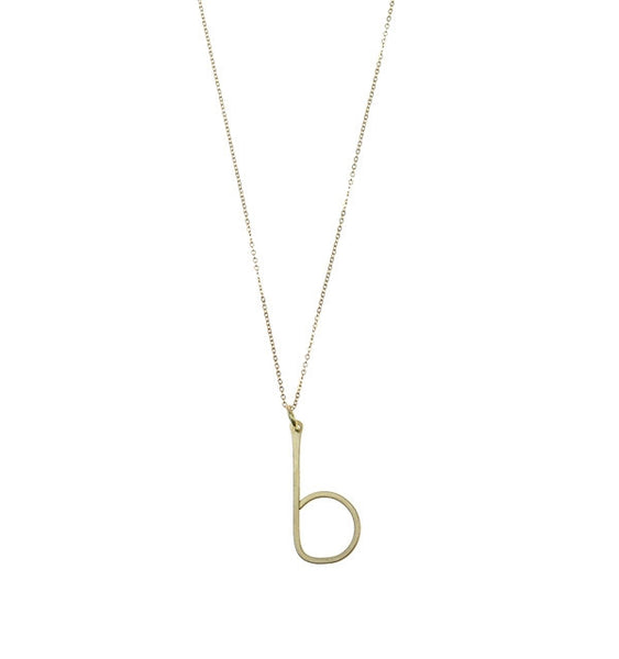 Nashelle Identity Lowercase Initial Necklace Apparel & Accessories > Jewelry > Necklaces - 1