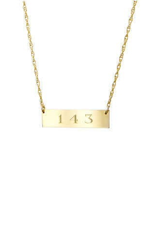 Moon and Lola Engraved Bar Necklace Apparel & Accessories > Jewelry > Necklaces - 1