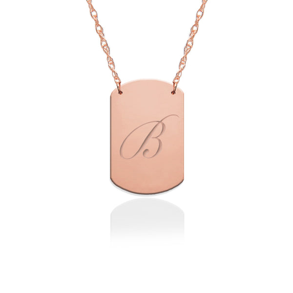 Mini Engraved Dog Tag Necklace - Jane Basch Apparel & Accessories > Jewelry > Necklaces - 4