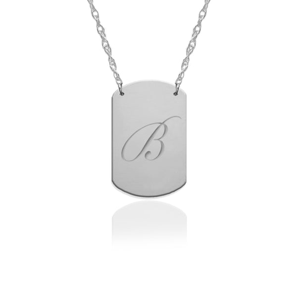 Mini Engraved Dog Tag Necklace - Jane Basch Apparel & Accessories > Jewelry > Necklaces - 3