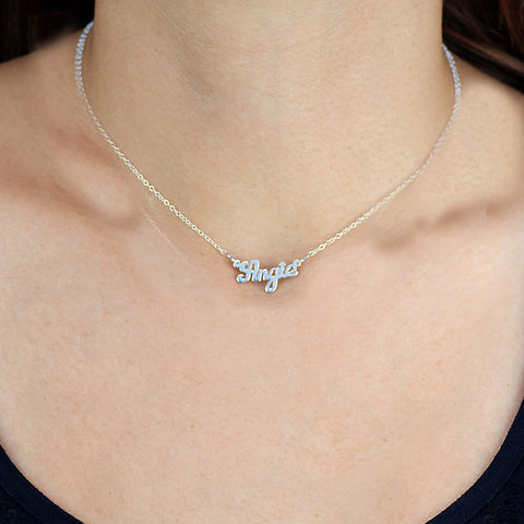 Script Mini Name Necklace