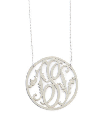 Moon and Lola Rimmed Leaf Initial Necklace Apparel & Accessories > Jewelry > Necklaces - 2