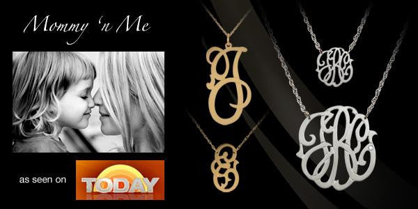 Jane Basch Script Initial Necklace ~ Split Chain Apparel & Accessories > Jewelry > Necklaces - 2
