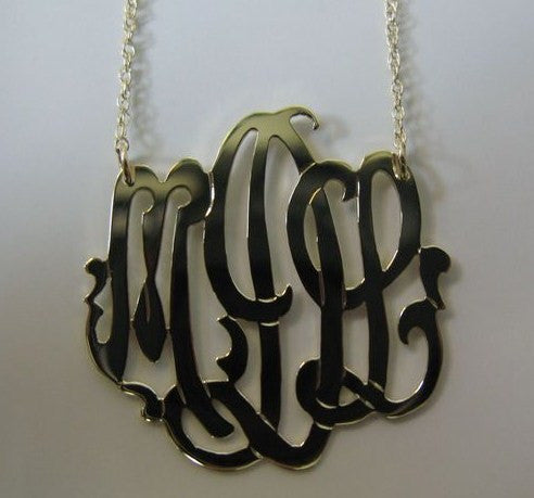 Sterling Silver Freeform Monogram Necklace Apparel & Accessories > Jewelry > Necklaces - 4