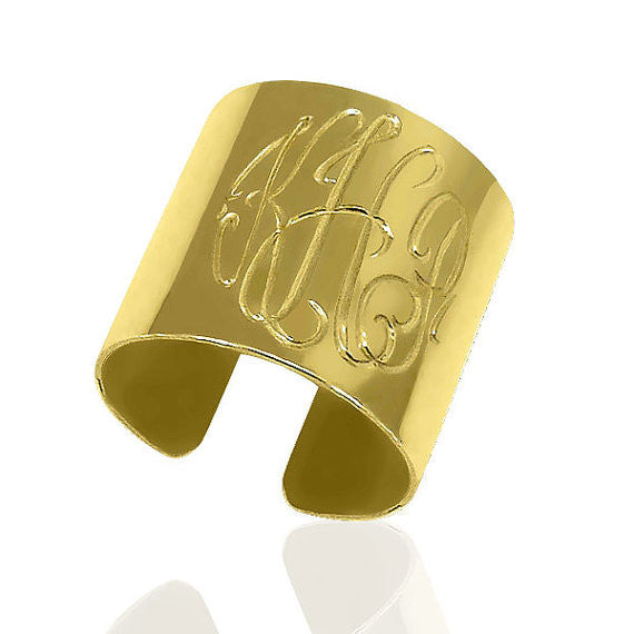 Monogram Cuff Ring Apparel & Accessories > Jewelry > Rings