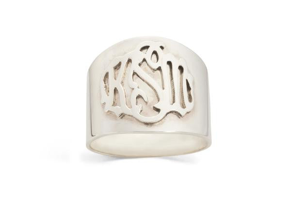 Cuff Monogram Ring by Moon and Lola Apparel & Accessories > Jewelry > Rings - 2