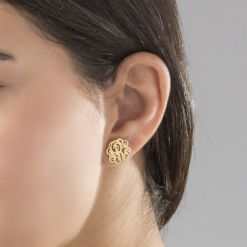 Monogram Stud Earrings Apparel & Accessories > Jewelry > Earrings - 2