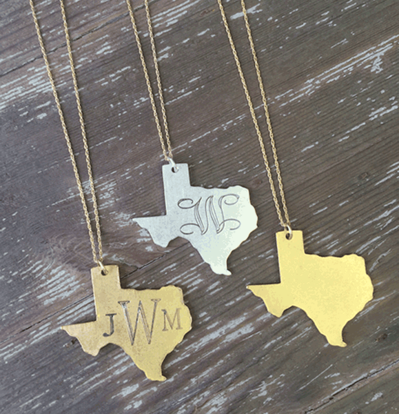 Large Monogram Texas Necklace Apparel & Accessories > Jewelry > Necklaces - 2