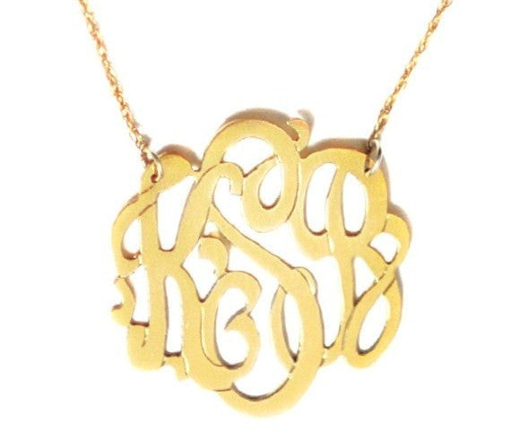 Moon and Lola Gold Filled Cutout Monogram Necklace Apparel & Accessories > Jewelry > Necklaces - 8