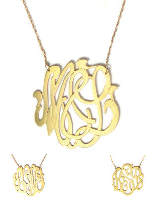 Moon and Lola Gold Filled Cutout Monogram Necklace Apparel & Accessories > Jewelry > Necklaces - 6
