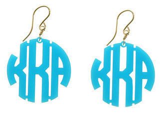 Acrylic Block Monogram Earrings  by Moon and Lola Apparel & Accessories > Jewelry > Earrings - 2