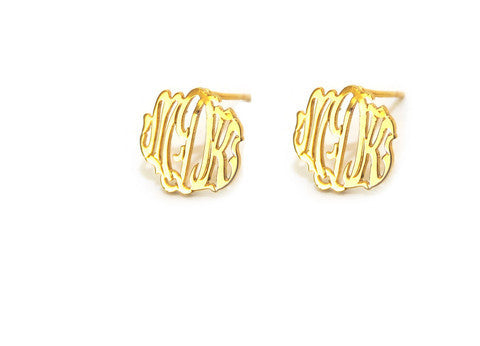 Moon and Lola Monogram Post Earrings Apparel & Accessories > Jewelry > Earrings - 2