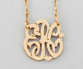 Moon and Lola Gold Filled Cutout Mini Monogram Necklace Apparel & Accessories > Jewelry > Necklaces - 2