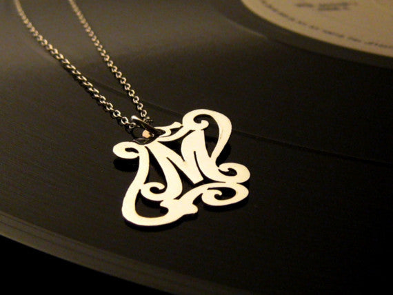 Gold Custom Initial Necklace Apparel & Accessories > Jewelry > Necklaces