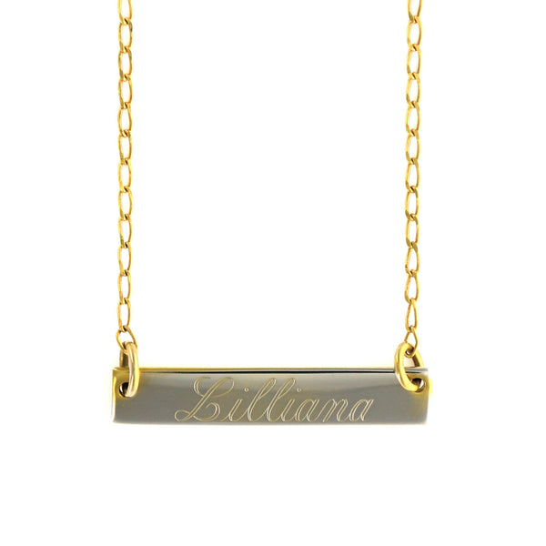 Personalized Silver Plated Horizontal Bar Necklace Apparel & Accessories > Jewelry > Necklaces - 3