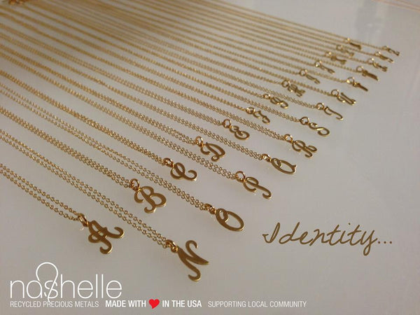 Script Initial Identity Necklace by Nashelle Apparel & Accessories > Jewelry > Necklaces - 3
