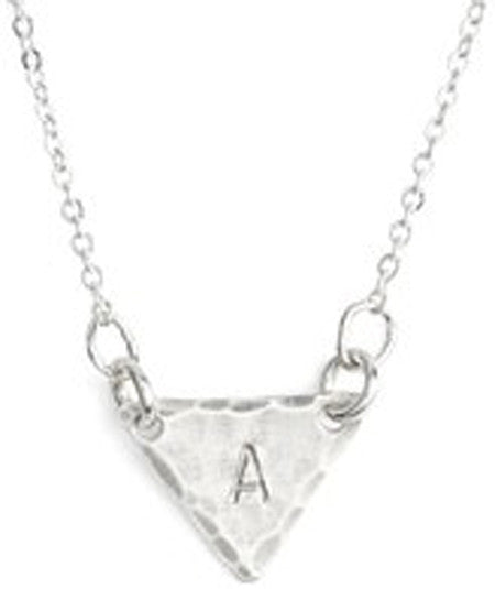 Personalized Small Triangle Identity Necklace - Nashelle Apparel & Accessories > Jewelry > Necklaces - 2