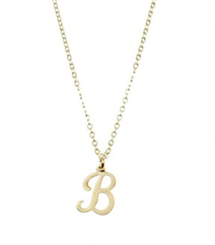 Script Initial Identity Necklace by Nashelle Apparel & Accessories > Jewelry > Necklaces - 1