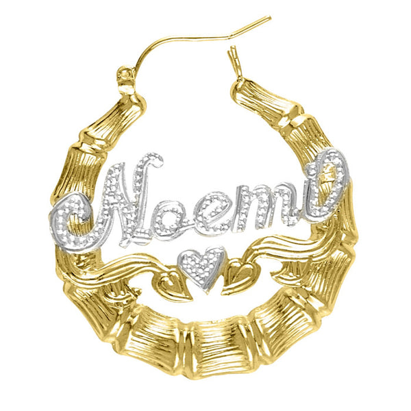 Medium Bamboo Name Earrings by Purple Mermaid Designs Apparel & Accessories > Jewelry > Earrings - 4
