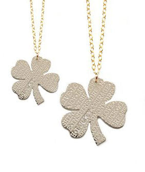 Miriam Merenfeld Lucky Four Leaf Clover Necklace Apparel & Accessories > Jewelry > Necklaces - 4