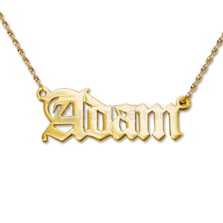 Old English Nameplate Necklace Apparel & Accessories > Jewelry > Necklaces - 2