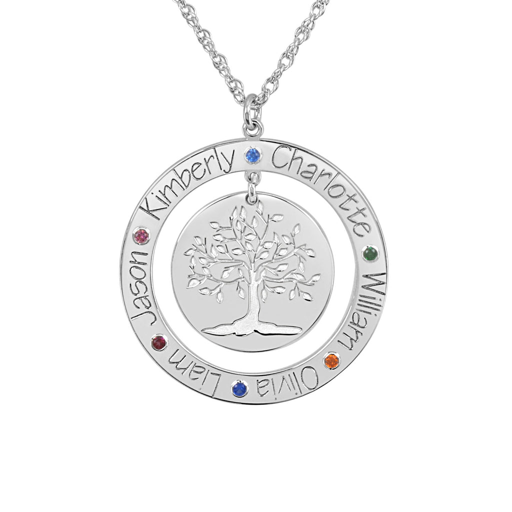 name her for present sterling engraved tree personalized circle family jewelry silver products mother necklace