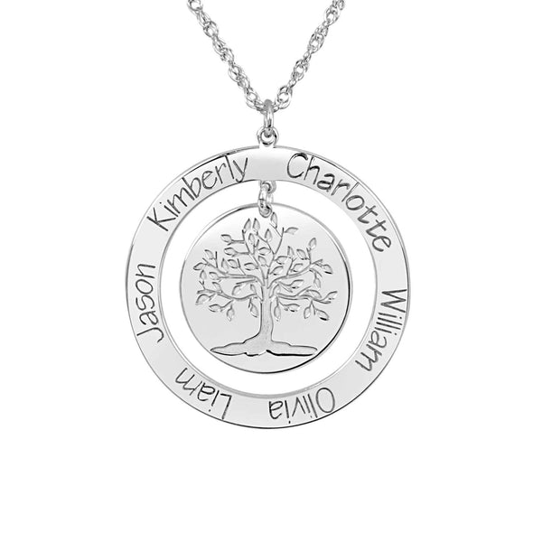 Personalized Engraved Family Tree Necklace 3