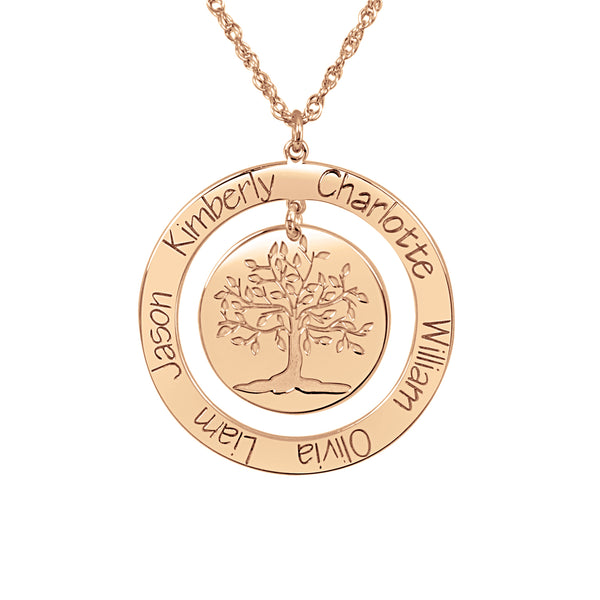 Personalized Engraved Family Tree Necklace 2