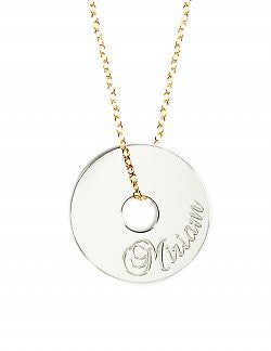 Personalized Token Necklace by Miriam Merenfeld Apparel & Accessories > Jewelry > Necklaces