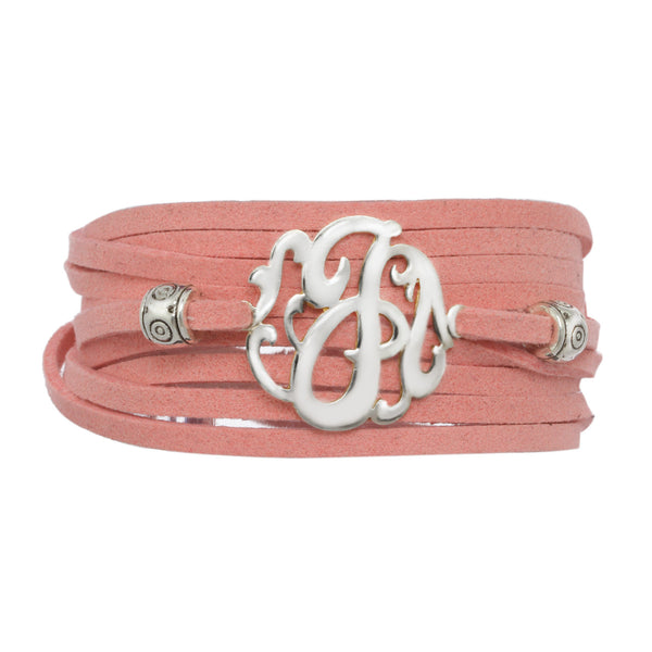 Leather Wrap Initial Bracelet-Lots of Colors-Shame on Jane Apparel & Accessories > Jewelry > Bracelets - 3