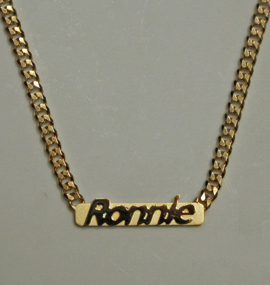 Raised Letter Name Bar Necklace by Purple Mermaid Designs Apparel & Accessories > Jewelry > Necklaces - 12