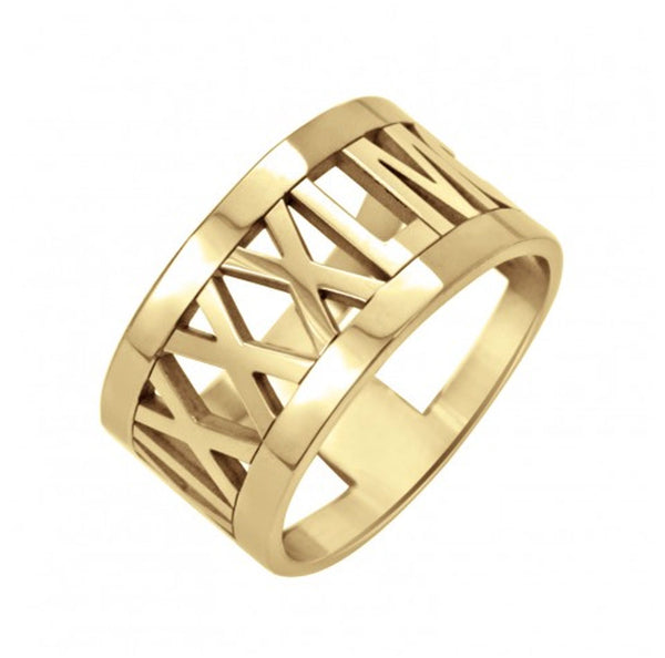 Rimmed Roman Numeral Ring