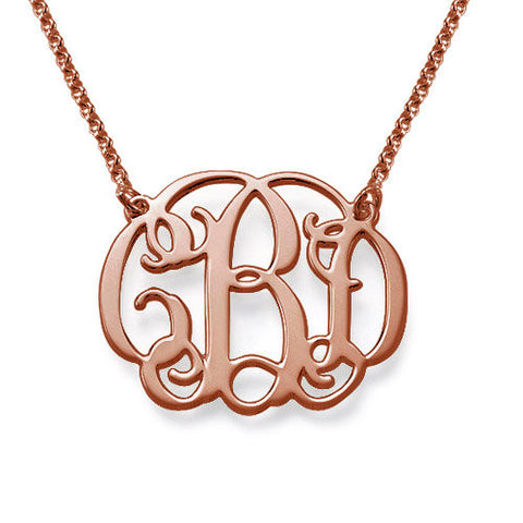 Small Interlocking Script Monogram Necklace Apparel & Accessories > Jewelry > Necklaces - 1