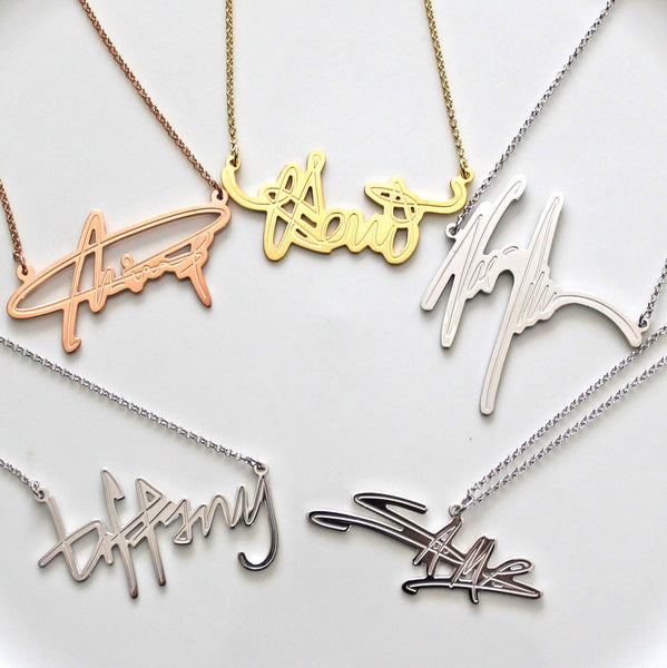 Your Signature Name Necklace by Purple Mermaid Designs Apparel & Accessories > Jewelry > Necklaces - 1