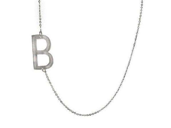 Large Sideways Initial Necklace - Lisa Stewart Apparel & Accessories > Jewelry > Necklaces - 3