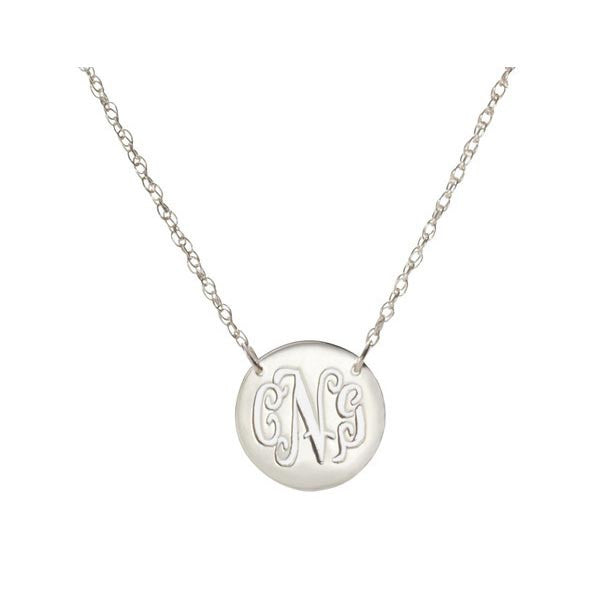 Moon and Lola Personalized Disc Necklace Apparel & Accessories > Jewelry > Necklaces - 2